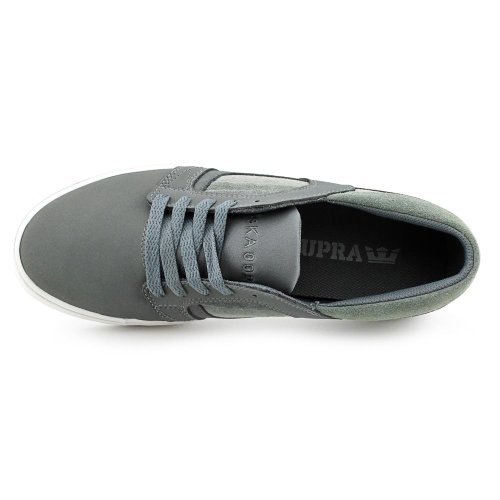 WHITE SUPRA 2 SKYLOW S08012 GREY wx6S1qC
