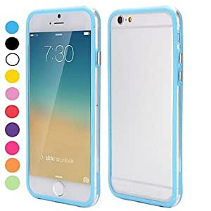PEACH ships in 48 hours 2014 Hot Sale Backless Bumper Frame Hybrid TPU and PC Cover for iPhone 6(Assorted Colors) , Rose