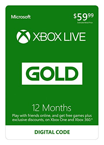 Video Games : 12 Month Xbox Live Gold Membership - [Digital Code]