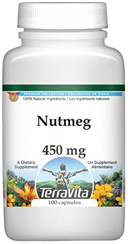 Nutmeg - 450 mg (100 Capsules, ZIN: 521997)