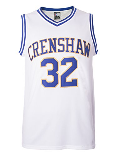 - MOLPE Monica Wright 32 Crenshaw High School Basketball Jersey S-XXXL White (S)