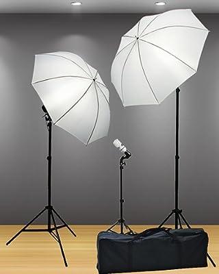 Fancierstudio 3 Point Umbrella Lighting Kit with Carrying Case, Professional Lighting for Studio Photography, Portrait Lighting and Video Lighting from Fancierstudio