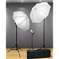 Fancierstudio Light Kit 3 Point Lighting Kit Fluorescent Lighting Kit Umbrella Kit