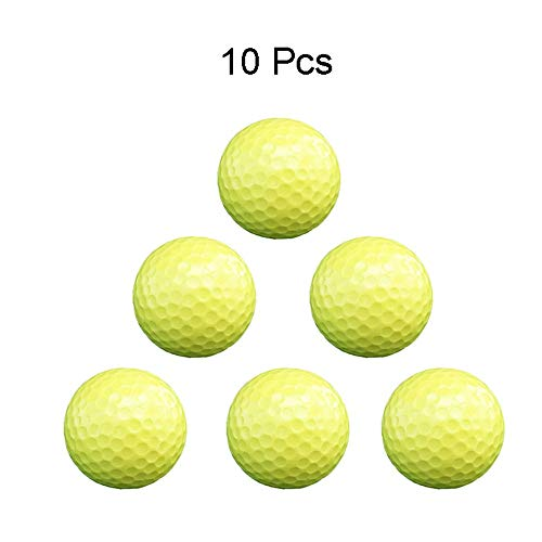 Golf Balls Set Men's Yellow 2 Layer Color Golf Practice Ball Women's Solid Color Wear Resistant Durable Professional Golf Balls for Beginners (Color : C1, Size : Diameter 42.6mm) ()