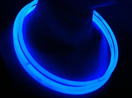 "Glow Sticks Bulk Wholesale Necklaces, 100 22"" Blue Glow Stick Necklaces +100 FREE Glow Bracelets! Bright Color, Glow 8-12 Hrs, Connector Pre-attached(Time Saver), Sturdy Packaging, GlowWithUs - Bonus Sunglasses Review"