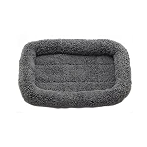 Freerun Pet Indoor Padded House Soft Warm House Bed Sleeping Cushion Pet Mat Nest for Dogs Cats - Gray, S
