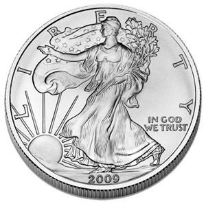 2009 Silver American Eagle Brilliant Uncirculated Gem Collectible Us Coin .999 Fine Silver 1 Oz - Silver 1 Proof Oz Gem