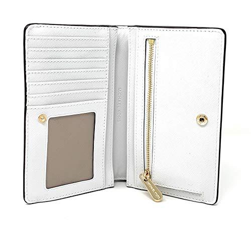 Michael Kors Jet Set Travel Saffiano Leather Slim Bifold Wallet (Optic White) by Michael Kors (Image #2)