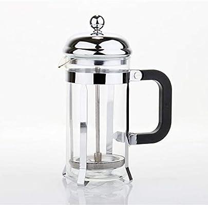Cafetera de presión francesa de 600 ml de plata para el hogar ...