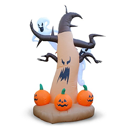 Holidayana Spooky Ghost Tree 8 Ft. Tall Inflatable Halloween Lawn Blow up Decoration
