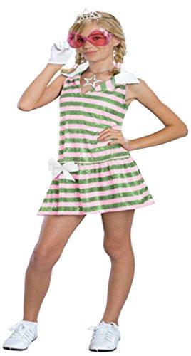 Girls Sharpay Golf Costume Kids Child Fancy Dress Party Halloween Costume, S (4-6) (Golf Halloween Costume)