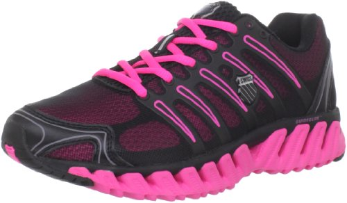 Cheap K-Swiss Women's Blade-Max Strong Running Shoe,Black/Neon Pink,5.5 M US