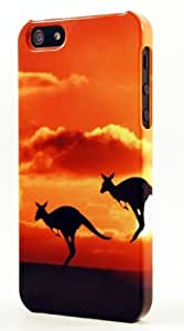 Australian Kangaroo Pair Hopping Into The Sunset Dimensional Case Fits iPhone 6