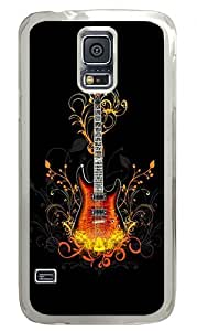 3d Guitar Custom Samsung Galaxy S5 Case Back Cover, Snap-on Shell Case Polycarbonate PC Plastic Hard Case Transparent
