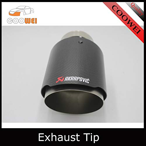 GEEKTHINK Exhaust Systems Motorsport M Performance Carbon Akrapovic Car Exhaust Tip for BMW E90 E46 E60 F30 320I 320 316I 328I X1 M3 M4 M5 M Accessories - (Color: 76Mm in 114Mm Out) (E46 Type Bmw)