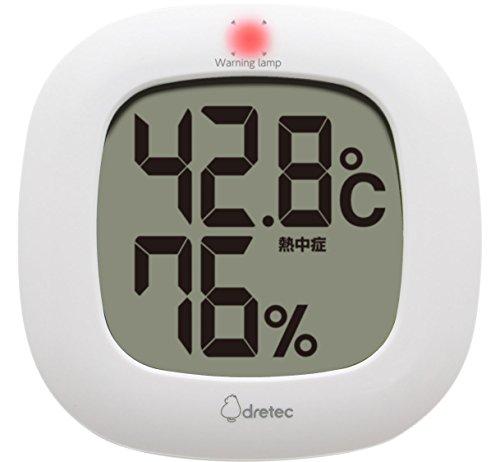 드레텍 dretec(dretec) 온도계 화이트 W10.3×D1.8×H10.3cm O-295WT