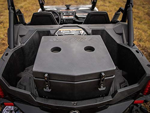SuperATV Heavy Duty Insulated Rear Cooler/Cargo Box for Can-Am Maverick Trail (2018+) - Sealed Lid Keeps Ice In & Mud Out!