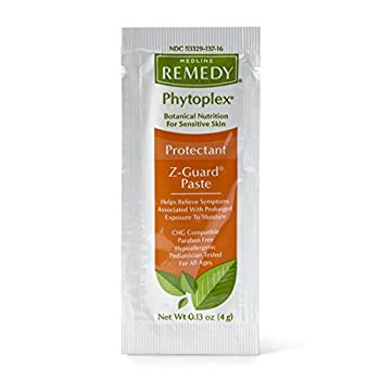 Medline Remedy Phytoplex Z-Guard Skin Protectant Paste, o.13 Ounce, 144 Count