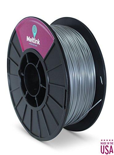 MeltInk3d Silver 1.75mm PLA 3D Printer Filament 1Kg MeltInk3d Supplies