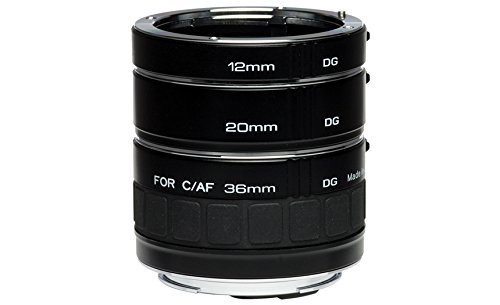 Kenko Auto Extension Tube Set DG 12mm, 20mm, and 36mm Tubes for Nikon AF Digital and Film Cameras - AEXRUBEDGN by Kenko