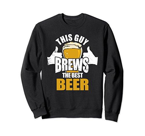 Unisex Brew the Best Beer Shirt Funny Home Brewer Sweatshirt Large Black