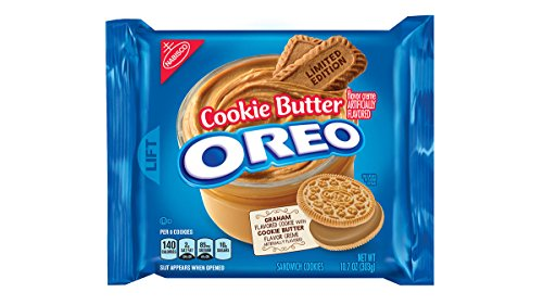 Oreo Limited Edition Cookie Butter Sandwich Cookies, 10.7 oz ( Pack of 2 )