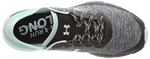 Escape Under Noir Compétition de Charged Running Chaussures W Armour UA Black Femme Gris wprZqpfI