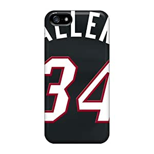 Bumper Hard Phone Case For Iphone 5/5s (PUo7638frUj) Custom Nice Miami Heat Pictures
