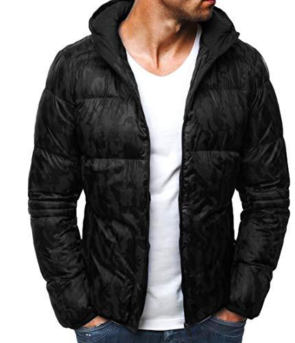 [해외]UUYUK 남성 카 모 프린트 퍼프 집 업 후드 겨울 따뜻한 다운 재킷 코트 / UUYUK Men Camo Print Puffer Zip-Up Hooded Winter Warm Down Jacket Coat