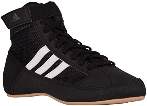 Entrada Sin sentido traqueteo  3 M US Little Kid, Black/White/Grey) - Adidas Men's Boy's HVC2 Wrestling  Mat Shoe Ankle Strap 2 Colours AQ3325: Buy Online at Best Price in UAE -  Amazon.ae
