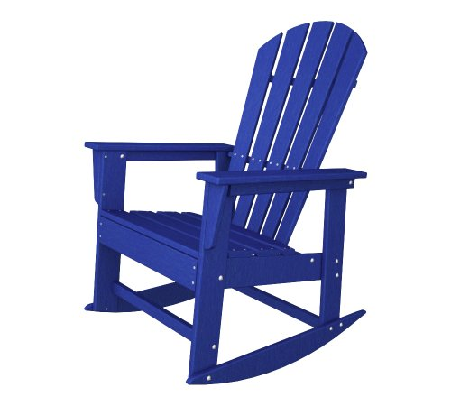 POLYWOOD SBR16PB South Beach Rocker, Pacific Blue Review