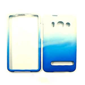 Cell Armor Two Tone Leather Finish Snap-On Case for HTC Evo 4G - White and Blue