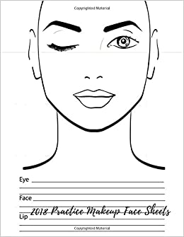 2018 practice makeup face sheets female faces large notebook quel