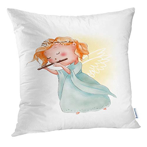 Batmerry Cute Pillow Covers 18x18 inch,Vintage Victorian Valentines Cherubs Angels Heart Double Sided Throw Pillow Covers Sofa Cushion Cover Lumbar -
