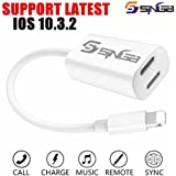 SINGB iPhone 7 Splitter & Lightning Splitter iPhone 7 Adapter Dual Lightning Adapter Headphone Jack Audio and Charge Cable Adapter for iPhone 7 / 7 Plus (Suport iOS 10.3 and later)
