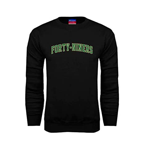 0e4256067 Amazon.com   Charlotte Black Fleece Crew  Arched Forty-Niners ...