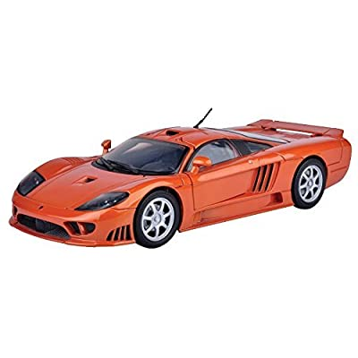 MotorMax 2004 Saleen S7 Die-cast 1:18 Scale Collectible Model Car (Orange) by Motormax: Toys & Games
