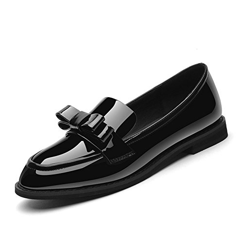 Shoes Retro Low talon Tête Chaussures Taille Grande Bas Ronde Femmes Black Shallow Fashion Mouth Simples OPxqaawv