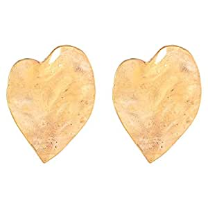 Flying Jewellery Brass Stud Earrings, Push Closure