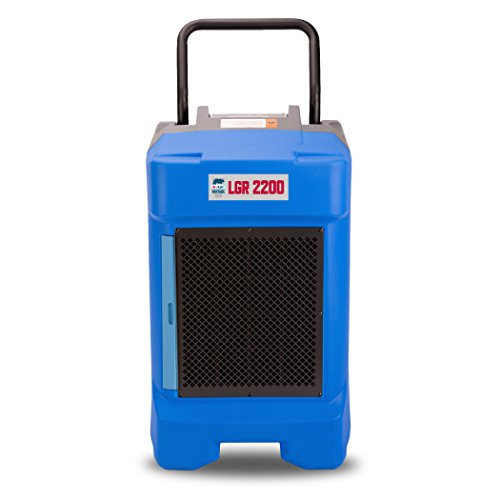 B-Air VG-2200 225 Pint Commercial LGR Dehumidifier for Water Damage Restoration Equipment Mold Remediation, Blue (Quest Dehumidifier)