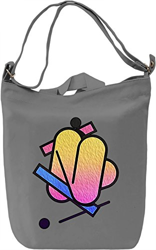 Funky Form Borsa Giornaliera Canvas Canvas Day Bag| 100% Premium Cotton Canvas| DTG Printing|