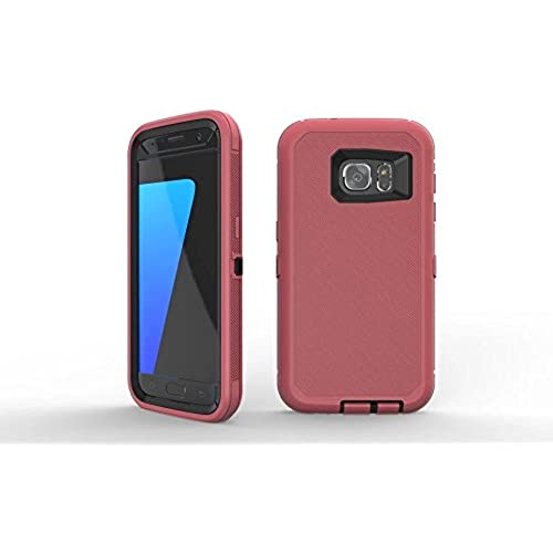 Galaxy S7 Edge Case HAIN@ Full Body Rugged Armor Protection Defender Case Cover for Samsung Galaxy S7 Edge (red Sales
