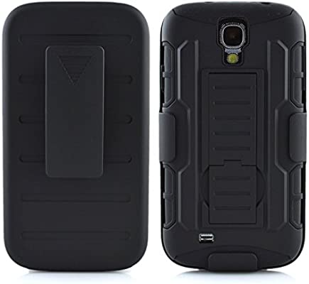 the best attitude ef1c2 8a408 Amazon.com: Galaxy S4 Mini Case, PT Shockproof Hybrid Armor Clip ...