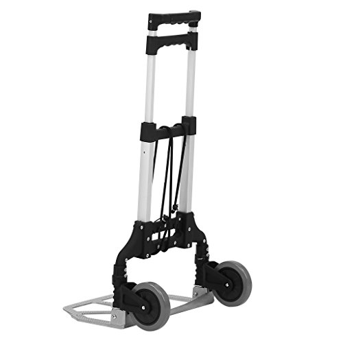 d Truck Dolly, 80Kg/176.4 lbs Heavy Duty 2-wheel Aluminum Cart Compact and Lightweight for Luggage, Travel, Auto, Moving and Office Use ()