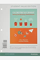 Entrepreneurship: Starting and Operating A Small Business, Student Value Edition (4th Edition) by Steve Mariotti (2015-01-03) Loose Leaf
