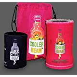 The LED Flashlight Beverage Can Bottle Cooler Torch Light (Pink) Female Designed Flashlight, Water Bottle Accessory - Great for Your Gift Baskets.