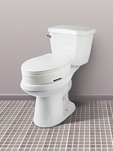 Excellent Carex Elongated Hinged Toilet Seat Riser Adds 3 5 Inches Pdpeps Interior Chair Design Pdpepsorg