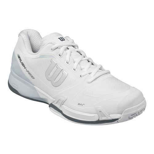 Wilson Men`s Rush Pro 2.5 Tennis Shoe, White/Pearl Blue/Iron Gate