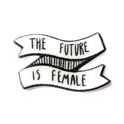 the-future-is-female-quote-enamel-pin-on-banner-for-feminists-black-and-white