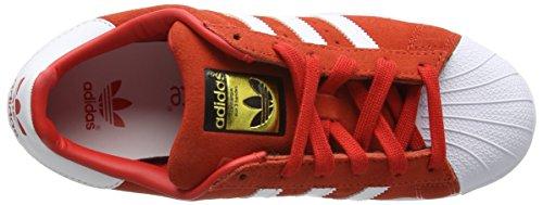 adidas Superstar - Zapatillas de deporte Unisex Niños Rojo - Rouge (Red/Ftwr White/Ftwr White)